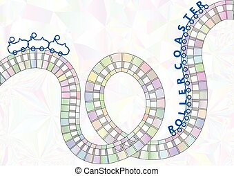 roller coaster background cartoon silhouette of a...