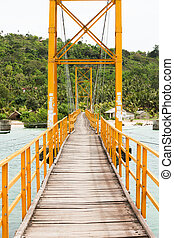 Small bridge in indonesia between nusa lembongan and nusa...