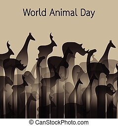 Vector image of an animal groups Wildlife World Animal Day