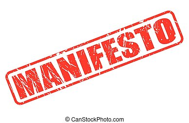 MANIFESTO red stamp text on white