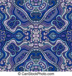 Abstract decorative ethnic floral seamless pattern -...