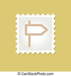 Road Signpost vector stamp