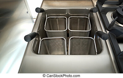 Professional kitchen detail: pasta cooker - Restaurant...