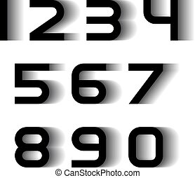 speed motion blur font numbers