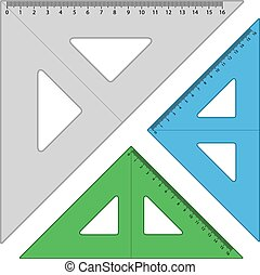 plastic triangle rulers - illustration for the web