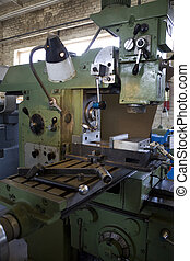 old industrial  machine on factory