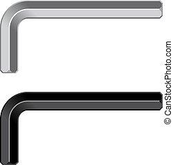 allen unbrako inbus keys - illustration for the web