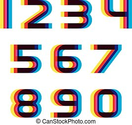 distortion blur font numbers - illustration for the web