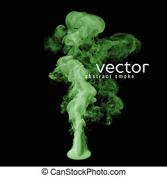 Vector illustration of green smoke on black Use it as an...