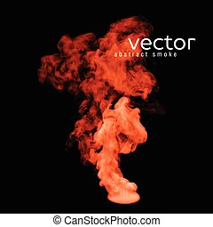 Vector illustration of orange smoke on black Use it as an...