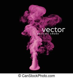 Vector illustration of pink smoke on black Use it as an...