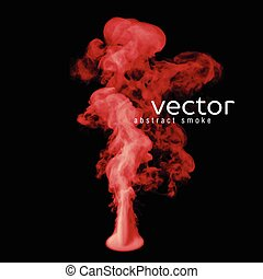 Vector illustration of red smoke on black Use it as an...