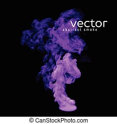 Vector illustration of violet smoke on black Use it as an...
