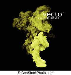 Vector illustration of toxic smoke on black. Use it as an...