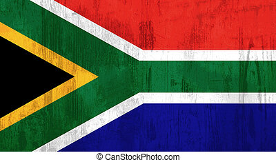 South Africa flag - Illustration of an old and dirty South...