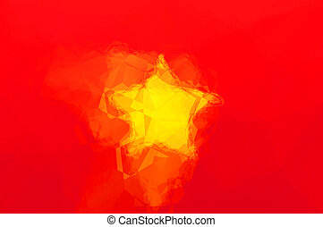 Vietnam flag - triangular polygonal pattern