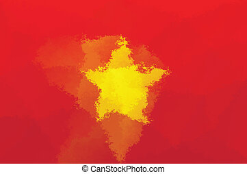 Vietnam flag - grunge design pattern