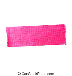Pink matte cloth tape isolated on white