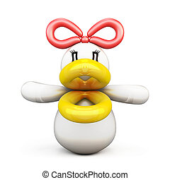 Duck of balloons front view