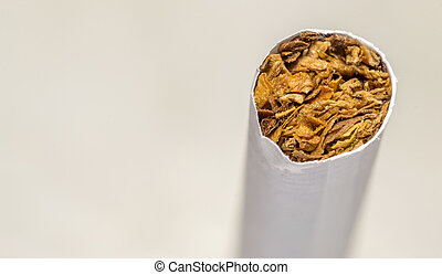 Macro closeup  of a Cigarette End