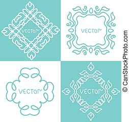 Vector illustration. Design elements vintage isolated on white background.