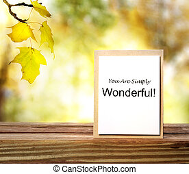 Letter of Encouragement - You are Simply Wonderful -...