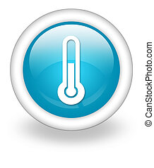 Icon, Button, Pictogram Temperature - Icon, Button,...