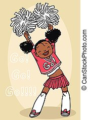 Cheerleader / Cheerleader Vector / Cheerleader Illustration...
