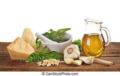 Genovese pesto ingredients