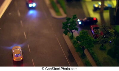 Urban life model Car and condominium - Video of Urban life...
