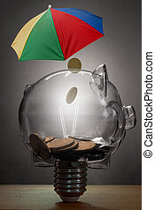 Wealth protection insurance concept