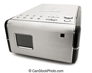 cd player - Photo of modern digital cd player against the...