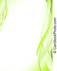 abstract light green wavy frame