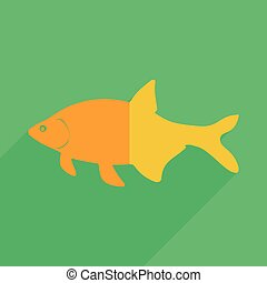 Flat icons modern design with shadow of bream Vector...
