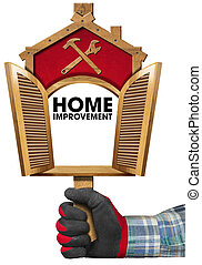 Home Improvement Sign with Open Window