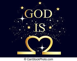 God is love with stars