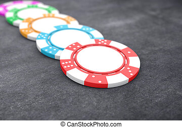 Poker chips - Illustration of poker chips of different...