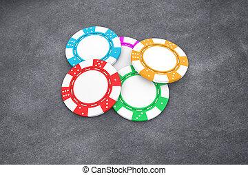 Poker chips - Illustration of poker chips of different...