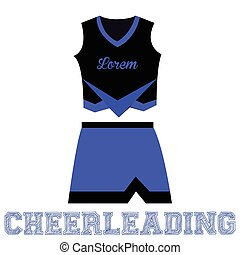 Sport uniform - Isolated sport uniform and some cheerleading...