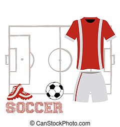 Sport uniform - Isolated sport uniform and some soccer...