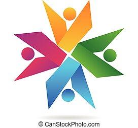Book teamwork logo