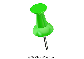 green push pin closeup