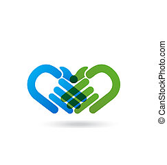 Handshaking business logo - Vector of handshake people icon...