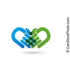Apretón de manos, empresa / negocio, logotipo,