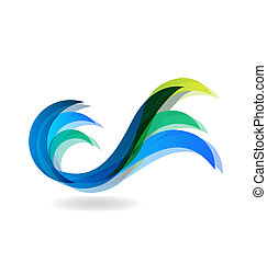 Wave beach logo - Wave beach vivid color vector background...