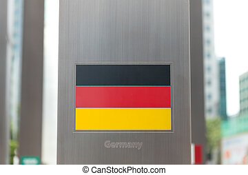 Series of national flags on pole - Germany - National flags...