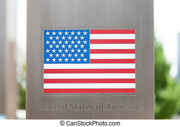 Series of national flags on pole - United States of America...