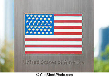 Series of national flags on pole - United States - National...