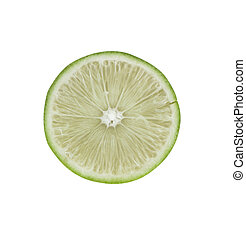 lime lemon and leaves isolated on white