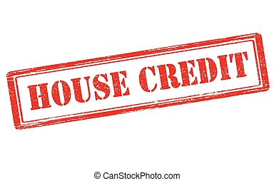 House credit - Rubber stamp with text house credit inside,...